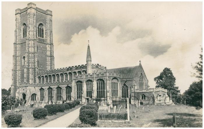Postcard front: S.S. Peter & Paul, Lavenham, Suffolk.