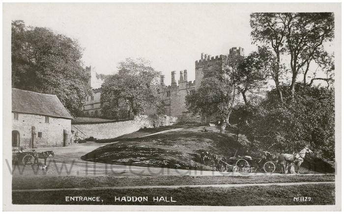 Postcard front: Entrance, Haddon Hall