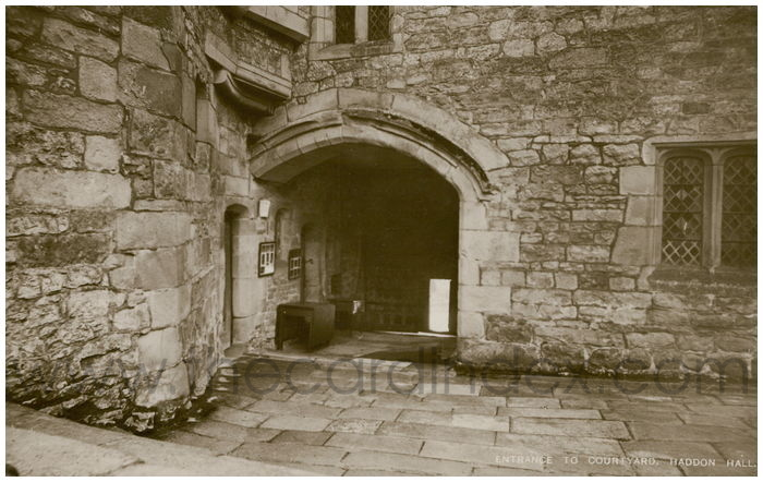 Postcard front: Entrance To Courtyard, Haddon Hall.