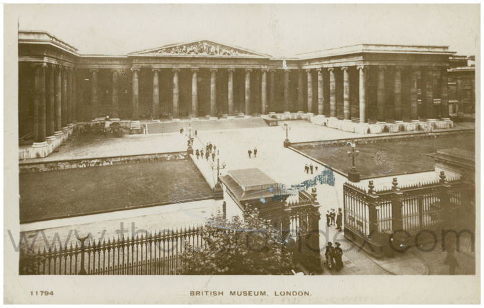 Postcard front: British Museum, London.