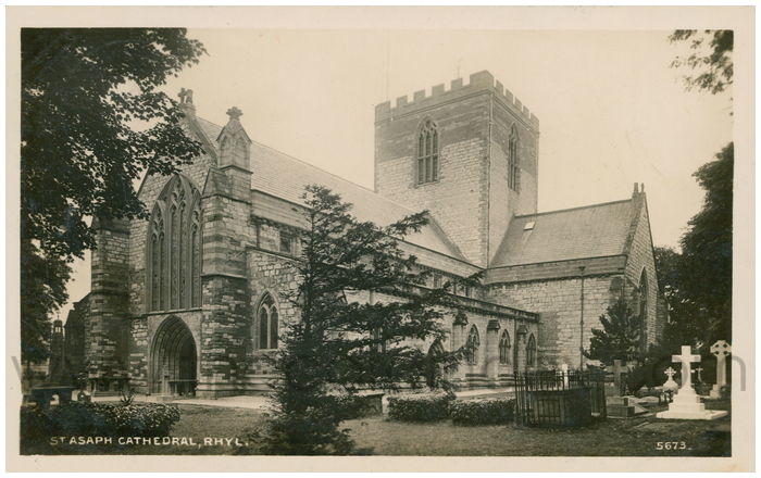 Postcard front: St. Asaph Cathesdral, Rhyl.