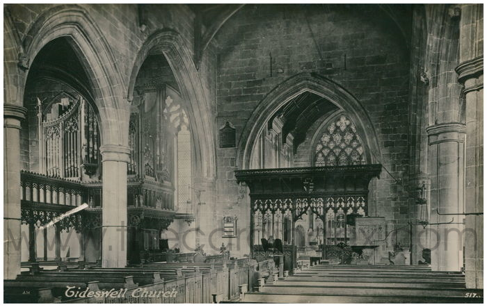 Postcard front: Tideswell Church