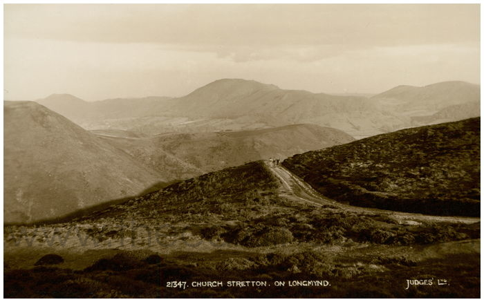 Postcard front: Church Stretton. On Longmynd.