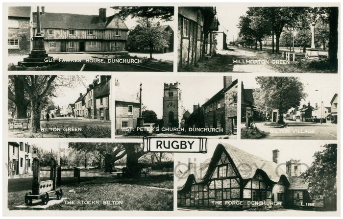 Postcard front: Rugby
