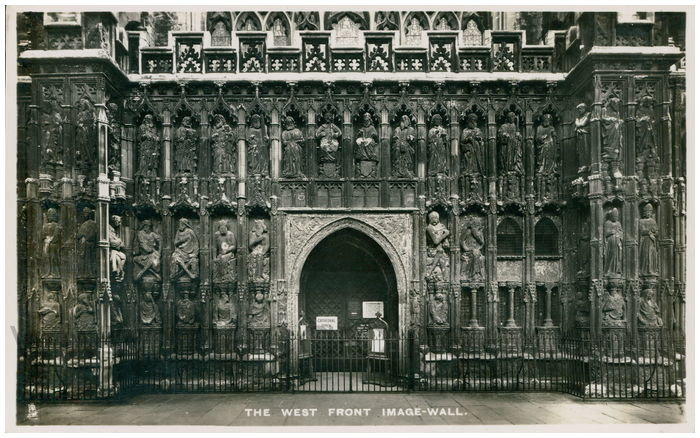 Postcard front: The West Front Image Wall