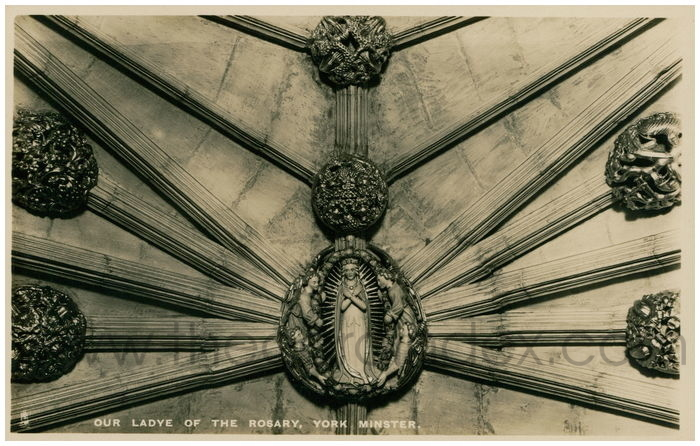 Postcard front: Our Ladye Of The Rosary, York Minster.