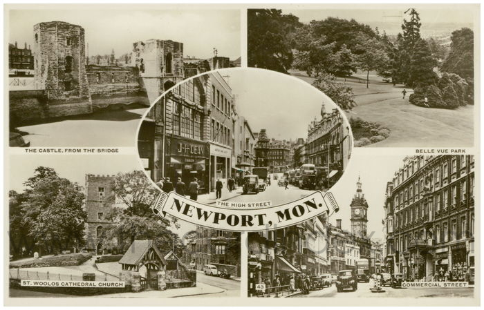 Postcard front: Newport, Mon.