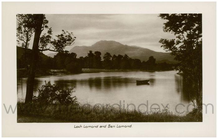 Postcard front: Loch Lomand and Ben Lomond