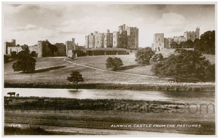 Postcard front: Alnwick Castle From The Pastures