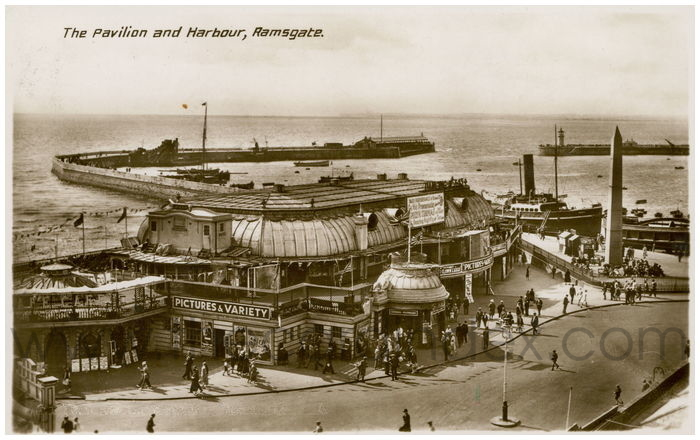 Postcard front: The Pavilion and Harbour, Ramsgate.