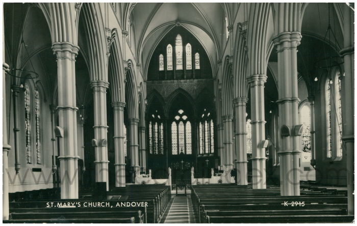 Postcard front: St. Mary's Church, Andover