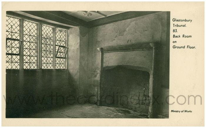 Postcard front: Glastonbury Tribunal. Back Room on Ground Floor.