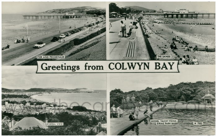 Postcard front: Greeting From Colwyn Bay.