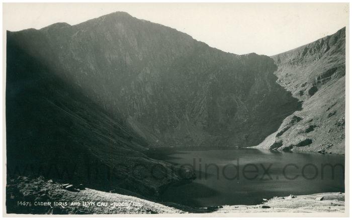 Postcard front: Cader Idris and Llyn Cau