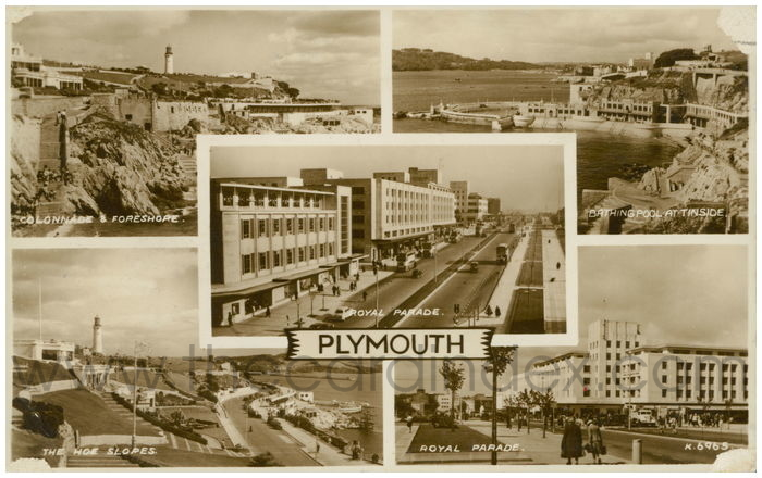 Postcard front: Plymouth