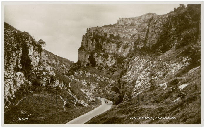 Postcard front: The Gorge, Cheddar.