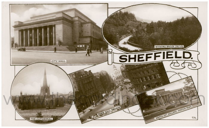 Postcard front: Sheffield