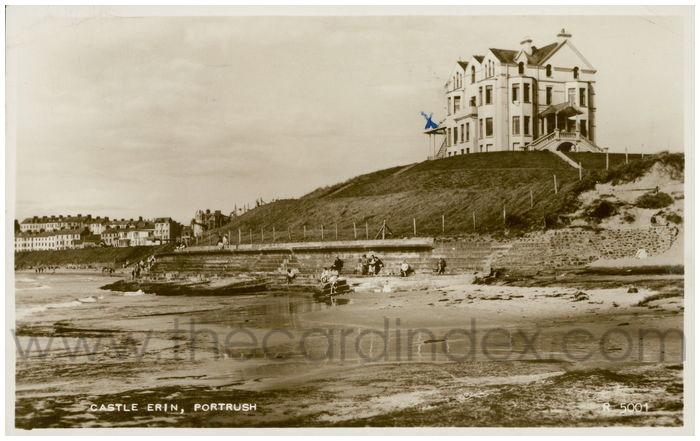 Postcard front: Castle Erin. Portrush