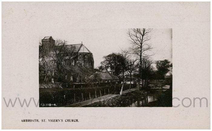 Postcard front: Arbroath, St. Vigern's Church.