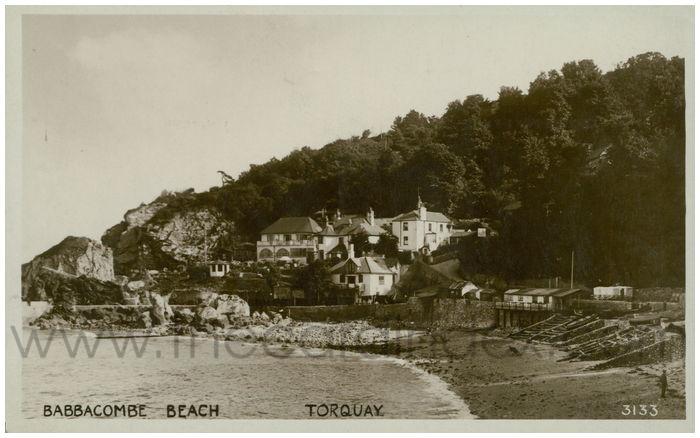 Postcard front: Babbacombe Beach. Torquay.