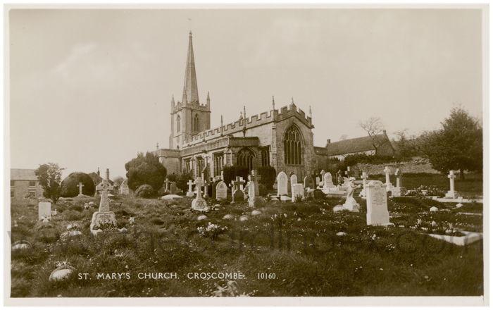 Postcard front: St. Mary's Church, Croscombe.
