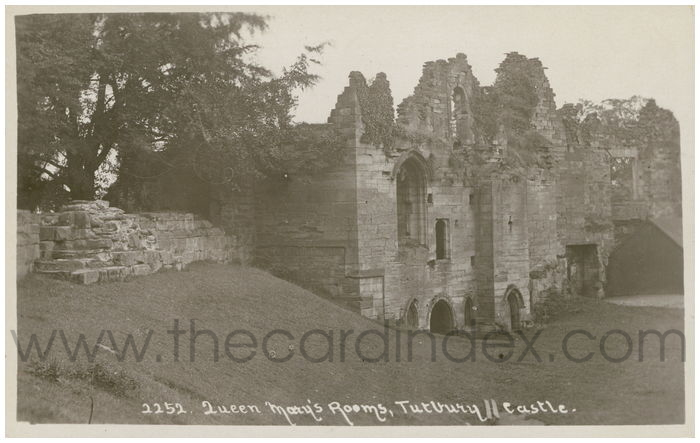 Postcard front: Queen Mary's Rooms, Tutbury Castle.