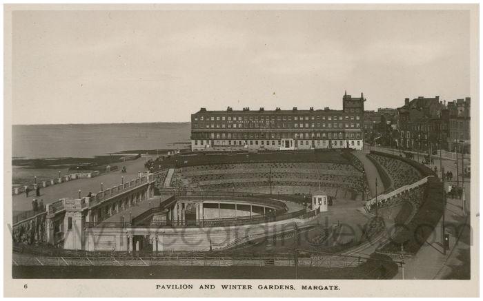 Postcard front: Pavilion and Winter Gardens, Margate.
