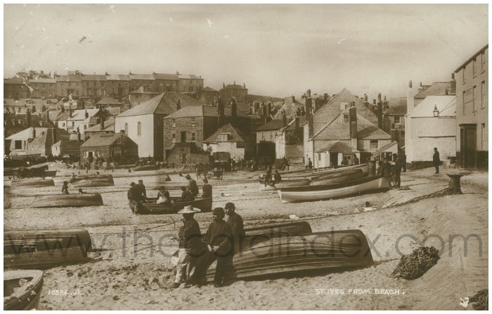 Postcard front: St. Ives From Beach.
