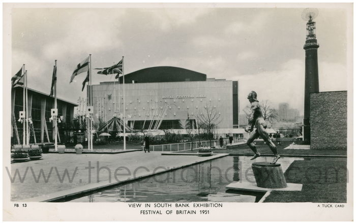 Postcard front: View In South Bank Exhibition Festival Of Britain 1951