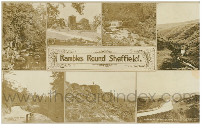 Postcard front: Rambles Round Sheffield.