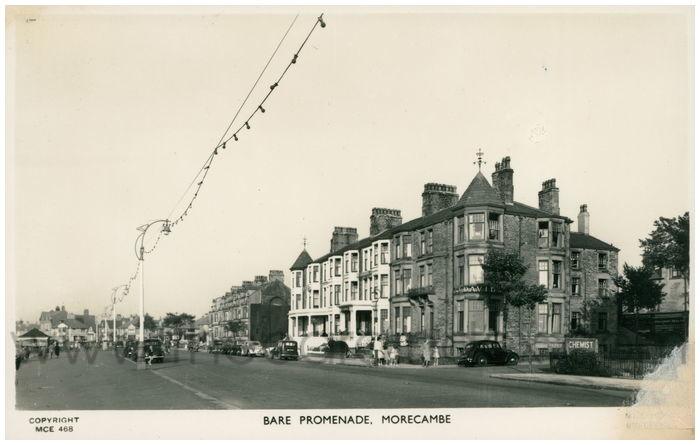 Postcard front: Bare Promenade, Morecambe