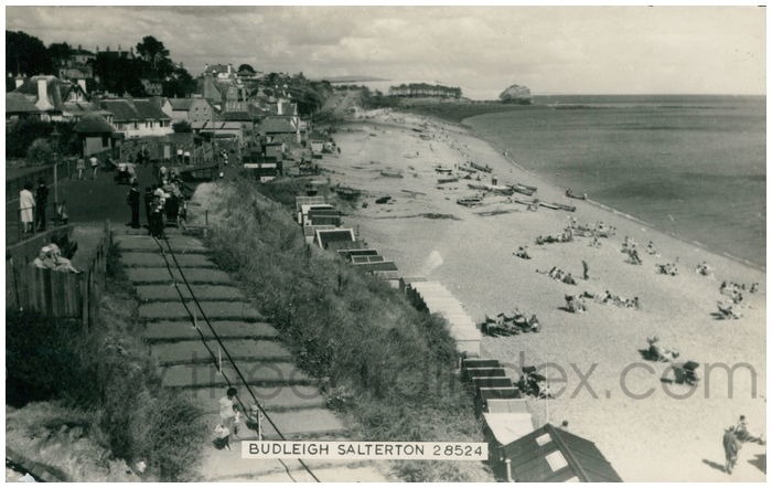 Postcard front: Budleigh Salterton