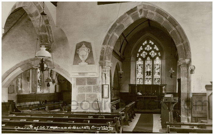 Postcard front: Church of St. Thomas a Beckett, Brightling.