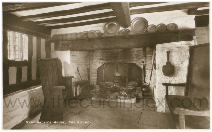 Postcard front: Mary Arden's House, The Kitchen