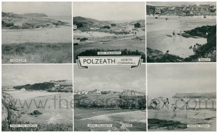 Postcard front: Polzeath. North Cornwall