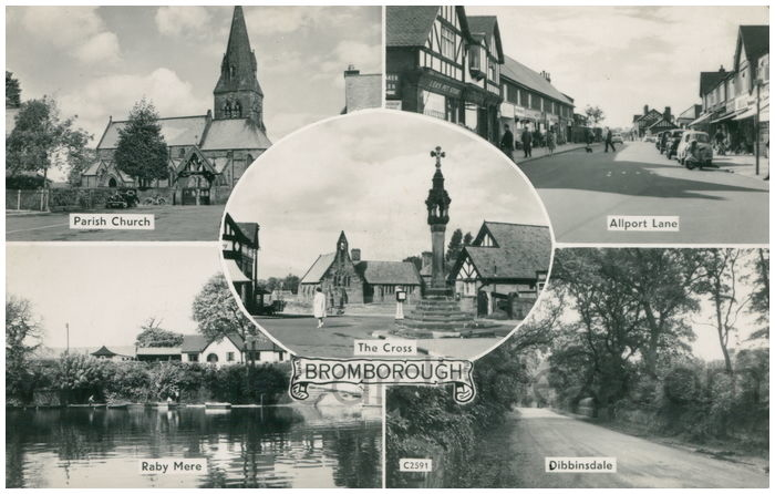Postcard front: Bromborough