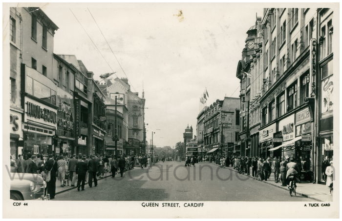 Postcard front: Queen Street, Cardiff
