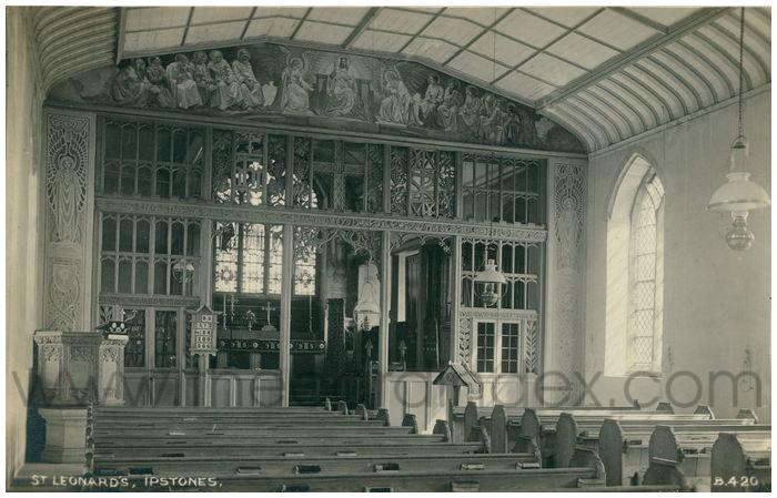 Postcard front: St. Leonard's, Ipstones.