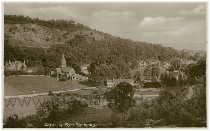 Postcard front: Valley of East Clevedon