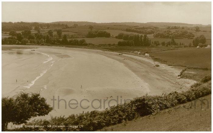 Postcard front: Broadsands. Nr. Brixham.