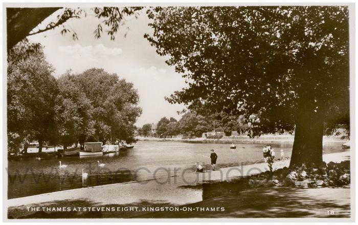 Postcard front: The Thames At Stevenseight, Kingston-On-Thames