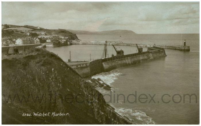 Postcard front:  Watchet Harbour.