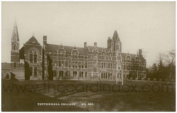 Postcard front: Tettenhall College