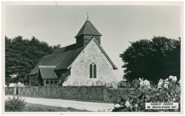 Postcard front: Earnley Church, Nr. Bracklesham Bay