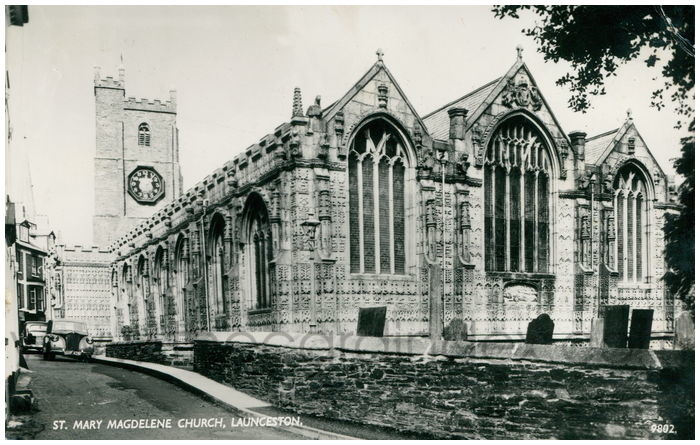 Postcard front: St. Mary Magdelene Church, Launceston.