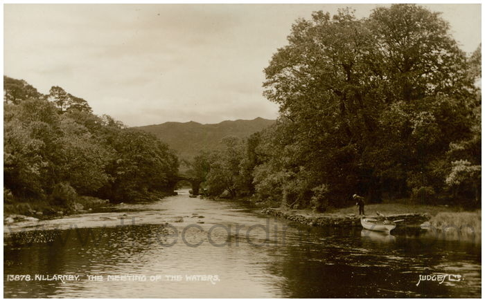 Postcard front: Killarney, The Meeting Of The Waters.