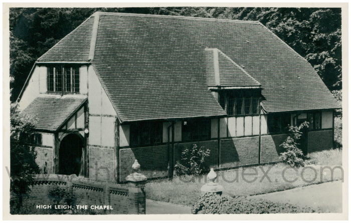 Postcard front: High Leigh, The Chapel