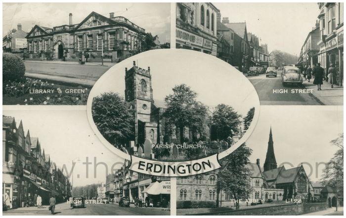 Postcard front: Erdington
