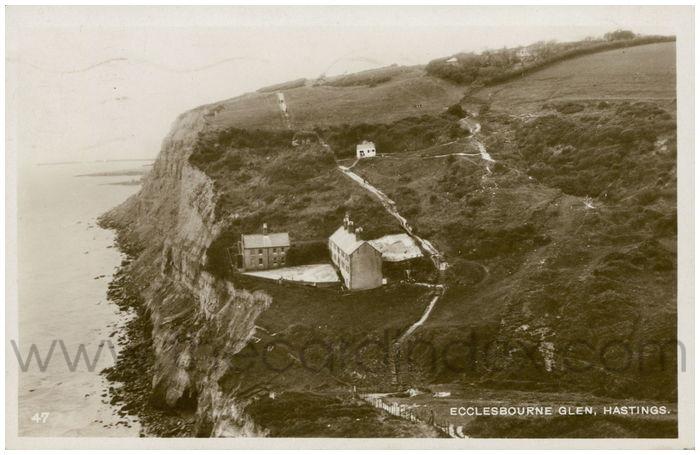Postcard front: Ecclesbourne Glen, Hastings