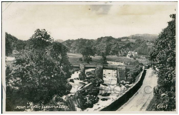Postcard front: Pont-y-Pant, Lledr Valley.